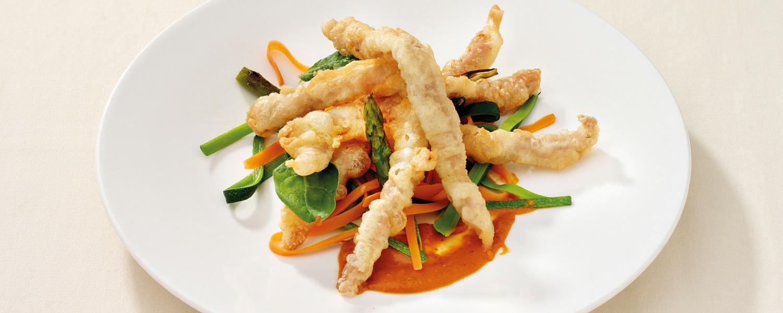 Ternasco de Aragón en tempura