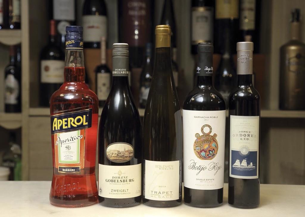 Bebida de aperitivo y vinos del maridaje