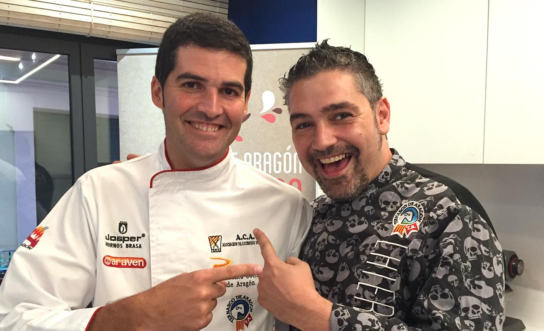 Cristian Yañez y Javier Robles en la Gastroteca de Puerta Cinegia