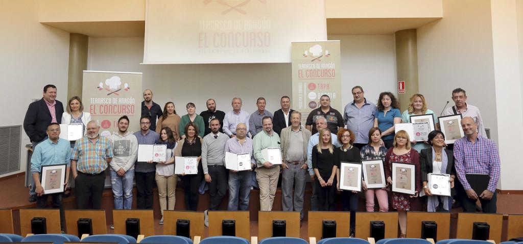 Foto de familia en El Concurso del Ternasco de Aragón