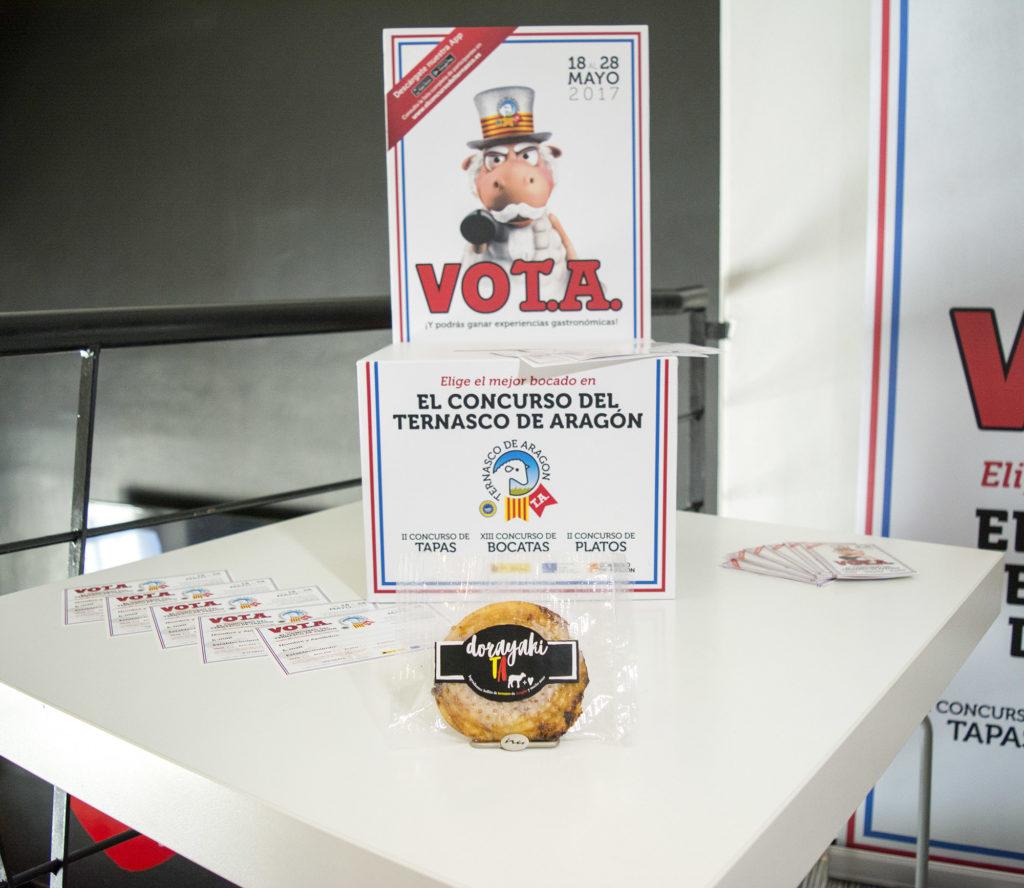 Propuesta Café bar el Punto -Dorayaki de Ternasco de Aragón - todo listo para votar