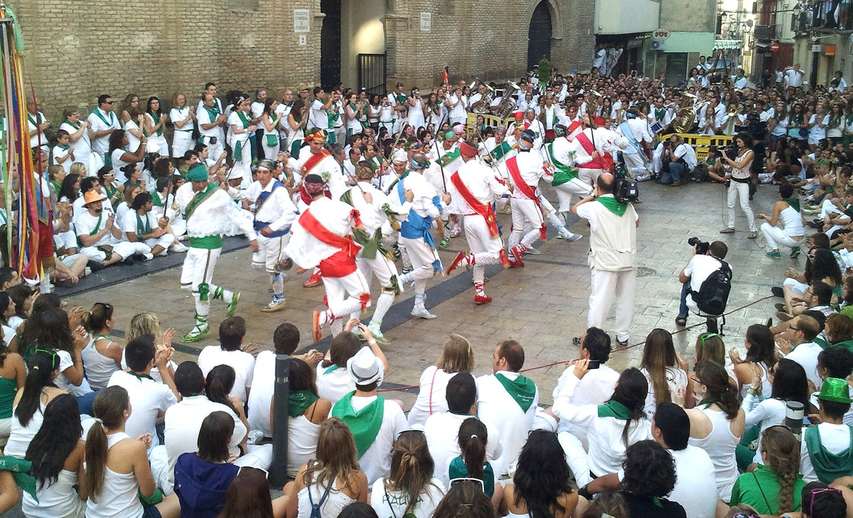 Danzantes de huesca en las Fiestas de San Lorenzo