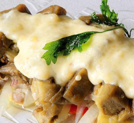 Musaca de Ternasco de Aragón con verduras asadas