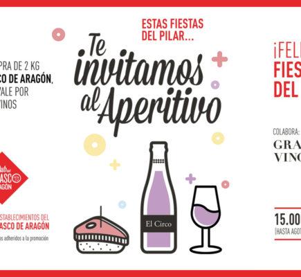 Te invitamos al aperitivo en las Fiestas del Pilar
