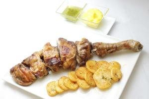 Asado de paletilla de Ternasco de Aragon del Restaurante Torre del Salvador