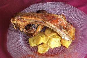 Ternasco de Aragón al horno con brandy del Restaurante Rufino