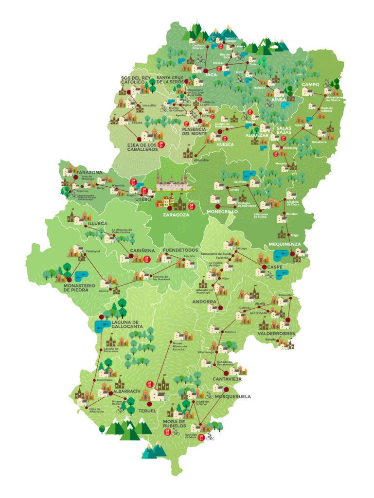 Mapa de la RUT.A. Ternasco de Aragón