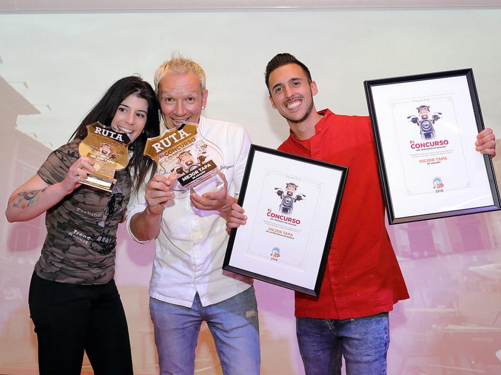 Vencedores del Concurso del Ternasco de Aragón - restaurante Saborea de Biescas
