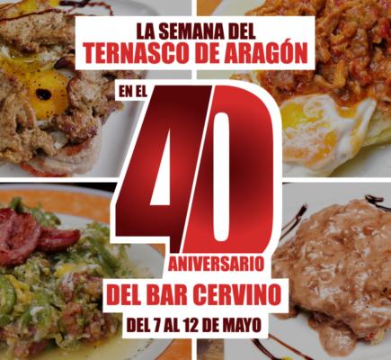 Semana del Ternasco de Aragón en el bar Cervino