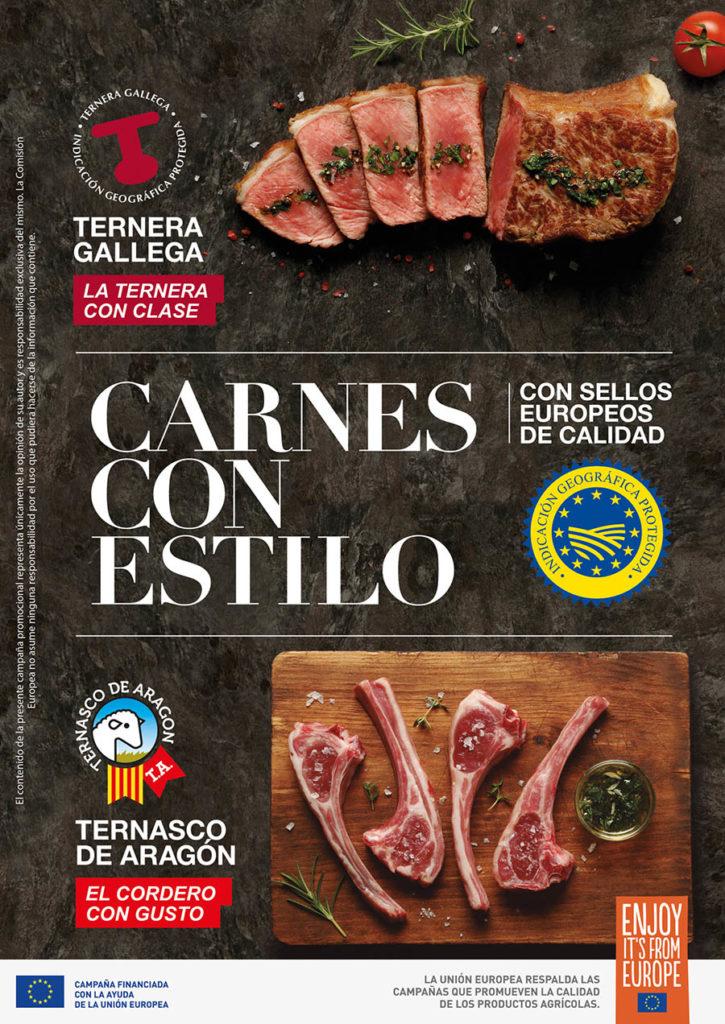 Gráfica de la campaña Carnes con Estilo