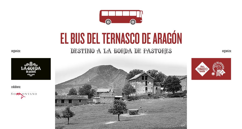 El bus del Ternasco de Aragón destino a la Borda de Pastores