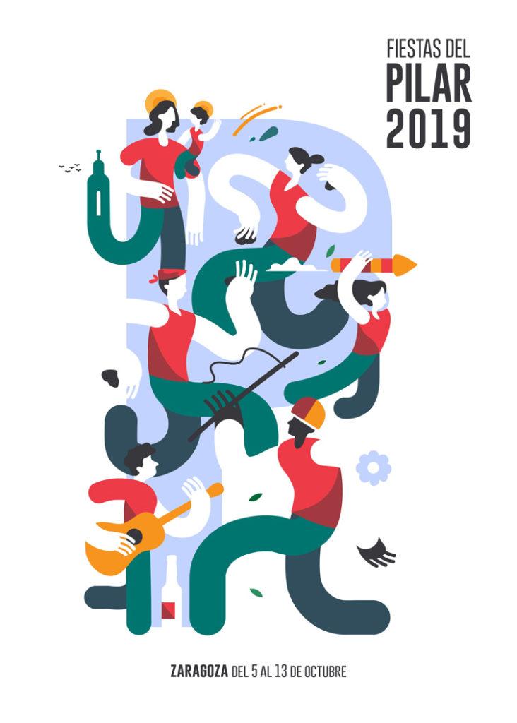 Cartel de las fiestas del Pilar 2019 | Ternasco de Aragón